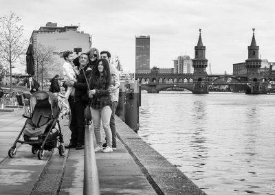 Family Selfie Berlin Oberbaumbruecke, October 2015