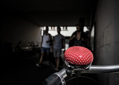 red bicycle bell, Basel Switzerland